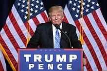 Trump campaigning in Phoenix, Arizona, August 2016 [Wikipedia]