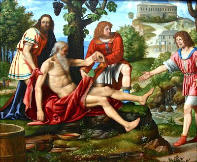 Ham mocking Noah Bernardino Luini (1515) Pinacoteca di Brera, Milan